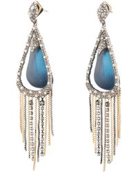 Alexis Bittar - Brutalist Butterfly 10k Gold-plated & Swarovski Crystal Chain Post Earrings - Lyst