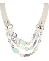 Alexis Bittar - Beaded Triple Strand Leather Bib Necklace You Might Also Like - Lyst