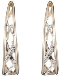 Alexis Bittar - Crystal Encrusted Plaid Hoop Earring You Might Also Like - Lyst