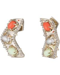 Alexis Bittar - Sculptural Stone Cluster Post Earring - Lyst