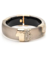 Alexis Bittar - Crystal Hinged Bangle - Lyst