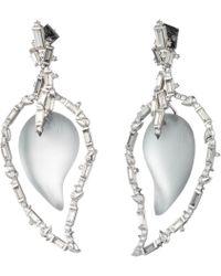 Alexis Bittar - Crystal Baguette Cluster Dangling Paisley Post Earring - Lyst