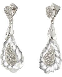 Alexis Bittar - Crystal Encrusted Paisley Rope Dangling Post Earring - Lyst