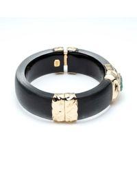 Alexis Bittar - Stone Studded Crumpled Gold Hinge Bracelet - Lyst