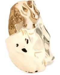 Alexis Bittar - Crumpled Gold Wide Cuff Bracelet - Lyst