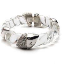 Alexis Bittar - Crystal Encrusted Twisted Rope Hinge Bracelet - Lyst