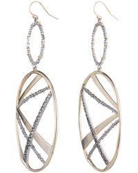 Alexis Bittar - Crystal Encrusted Large Plaid Drop Earring You Might Also Like - Lyst