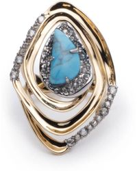 Alexis Bittar - Spiral Cocktail Ring - Lyst
