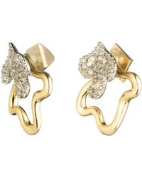 Alexis Bittar Crystal Encrusted Earrings w/ Freeform Jacket CMBydtJ