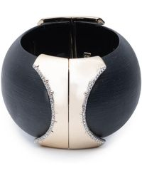 Alexis Bittar - Large Dome Hinge Crystal Accent Bracelet - Lyst