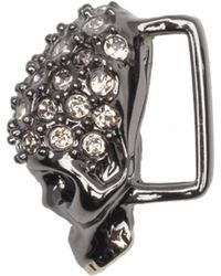 Alexis Bittar - Gunmetal Tone Pave Skull Slide You Might Also Like - Lyst