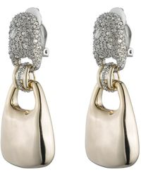 Alexis Bittar - Crystal Encrusted Liquid Gold Link Dangling Clip Earring You Might Also Like - Lyst
