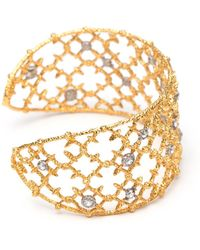 Alexis Bittar - Gold Crystal Studded Spur Lace Cuff Bracelet You Might Also Like - Lyst