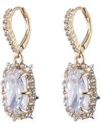 Alexis Bittar - Crystal Framed Cushion Leverback Earring You Might Also Like - Lyst