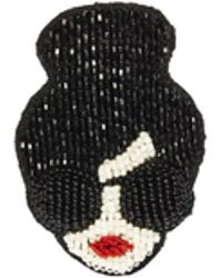 Alice + Olivia - Stace Face Embroidered Brooch - Lyst