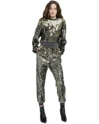 Alice + Olivia - Smith Sequin Cropped Pullover - Lyst