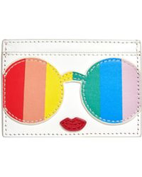 Alice + Olivia - Rainbow Print Staceface Card Case - Lyst