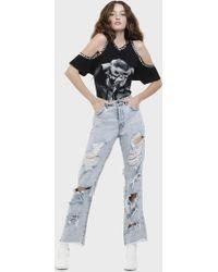 Alice + Olivia - Amazing Genevive Distressed Jeans - Lyst