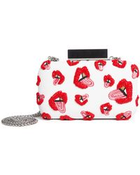 Alice + Olivia - Ao X Donald Shirley Large Clutch - Lyst