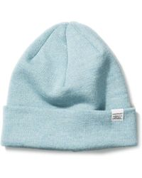 57b863db947 Norse Projects Grey Melange Top Beanie in Gray for Men - Lyst