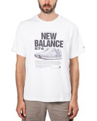 New Balance - Mt81567 Wt T-shirt - Lyst