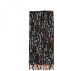 Stussy Tree Bark Wool Scarf - Brown