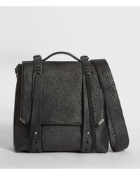 AllSaints - Vincent Leather Backpack - Lyst