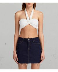 AllSaints - Libbie Bikini Top - Lyst