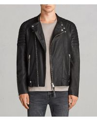 AllSaints - Jasper Leather Biker Jacket - Lyst