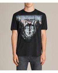 AllSaints - Night Wolvs Crew T-shirt - Lyst