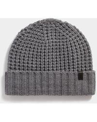 65e437ae5036d AllSaints - Thermal Stitch Beanie - Lyst