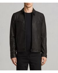 AllSaints - Lark Leather Jacket - Lyst