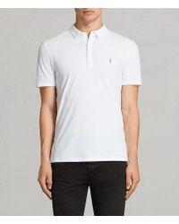AllSaints - Brace Polo Shirt Usa Usa - Lyst