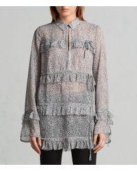AllSaints | Deirdre Leodot Shirt | Lyst