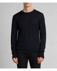 AllSaints - Mode Merino Crew Sweater - Lyst