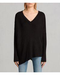 AllSaints   Keld Olivo V Neck Sweater   Lyst