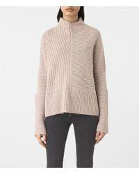 AllSaints - Terra Funnel Neck Sweater - Lyst