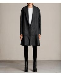 AllSaints - Grace Ruffle Coat - Lyst