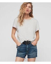 AllSaints - Paula High-waist Denim Shorts - Lyst