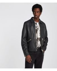 AllSaints - Kopen Leather Jacket - Lyst
