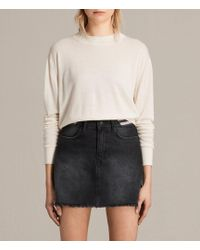 AllSaints - Lotus Cropped Cashmere Sweater - Lyst