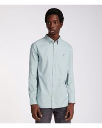 AllSaints - Redondo Long Sleeve Shirt - Lyst