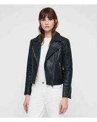 AllSaints - Pataya Leather Biker Jacket - Lyst