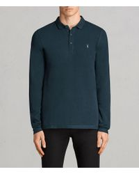 AllSaints | Reform Long Sleeved Polo Shirt | Lyst