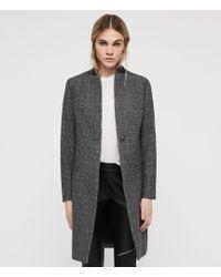 AllSaints - Leni Check Coat - Lyst