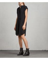 AllSaints | Meda Textured Shirt Dress | Lyst
