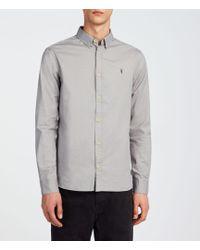 AllSaints - Redondo Ls Shirt - Lyst