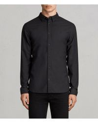 AllSaints - Huntingdon Slim Fit Button-down Shirt - Lyst