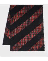 AllSaints - Best Check Tie Dye Scarf - Lyst
