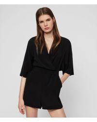 e4a360d7ce Lyst - AllSaints Laurel Jumpsuit in Black